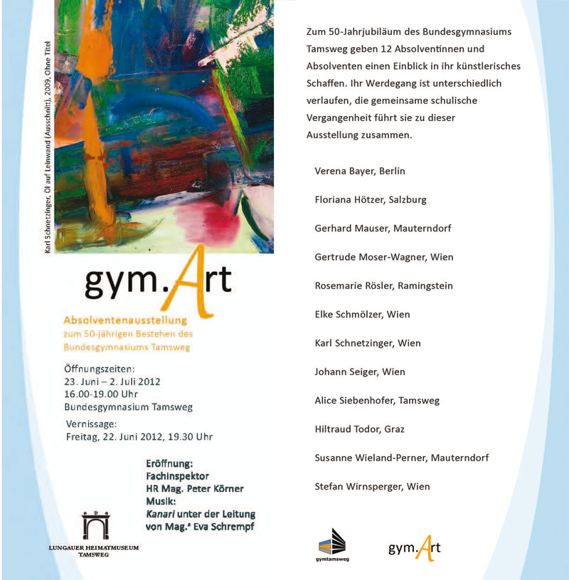 Einladung gym.Art